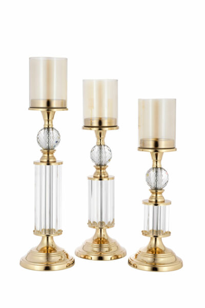 gold nicle candle holder