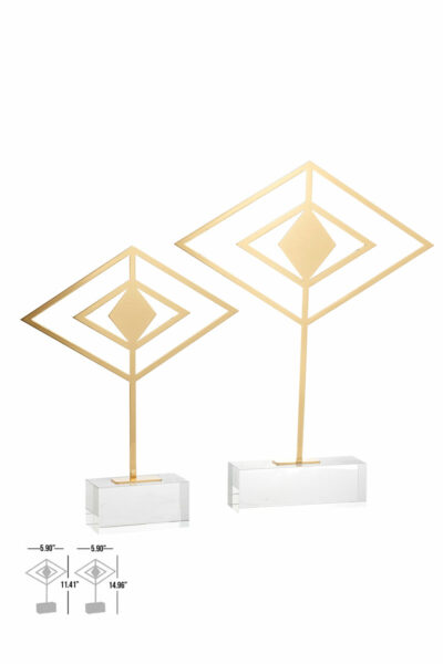 almire decorative crystal gold acessory