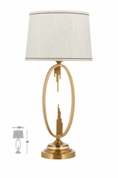gallen luxury bronze table lamp led night light with lamp shade