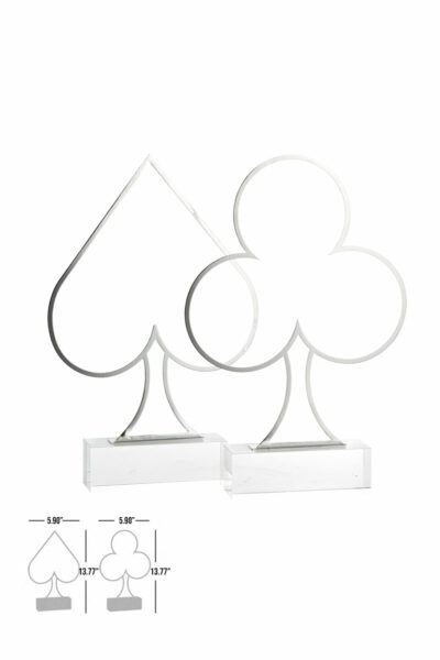 sonya crystal chrome coeurs piques decorative table luxury accessory