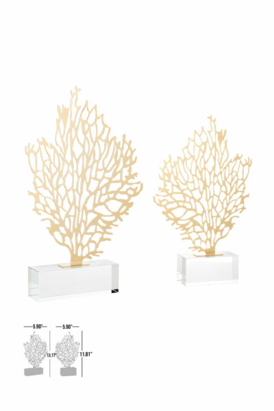 wood decorative crystal gold luxury accessory